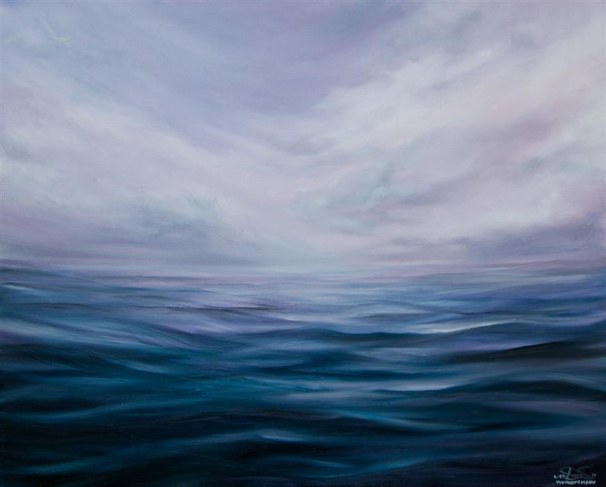 Original art for sale at UGallery.com | Alone in Nowhere by Mitch Davis-Mann | $2,325 | oil painting | 24' h x 30' w | ..\art\oil-painting-Alone-in-Nowhere