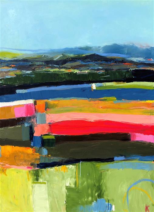 Original art for sale at UGallery.com | Out to Sea, Abenaki Monhegan by Rebecca Klementovich | $4,200 | oil painting | 48' h x 36' w | ..\art\oil-painting-Out-to-Sea-Abenaki-Monhegan