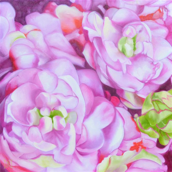 Original art for sale at UGallery.com | Purple Passion by Natalie George | $1,650 | oil painting | 30' h x 30' w | ..\art\oil-painting-Purple-Passion