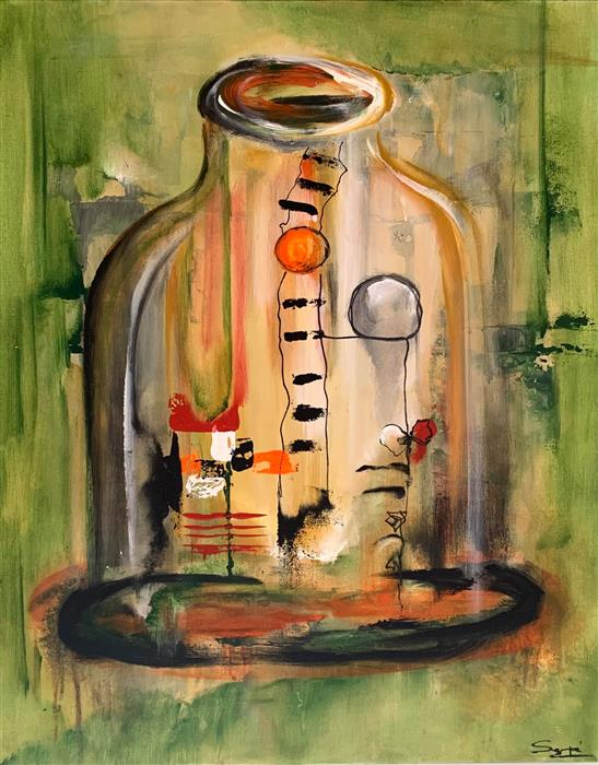 Original art for sale at UGallery.com | Mysterious Potion by Yamilet Sempe | $1,275 | acrylic painting | 30' h x 24' w | ..\art\acrylic-painting-Mysterious-Potion