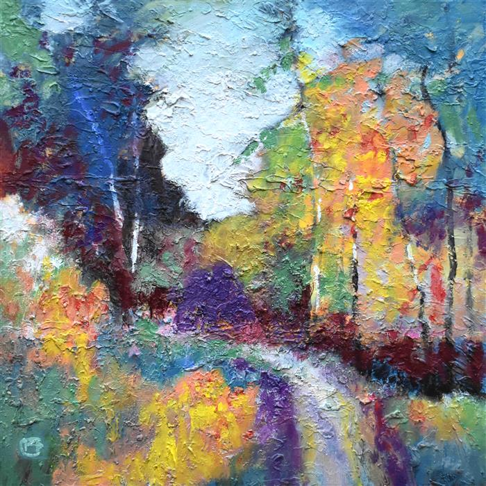 Original art for sale at UGallery.com | Road to Pickens County by Kip Decker | $2,400 | acrylic painting | 30' h x 30' w | ..\art\acrylic-painting-Road-to-Pickens-County
