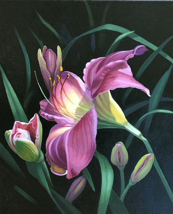 Original art for sale at UGallery.com | Good Morning by Elizabeth Rickert | $1,950 | oil painting | 24' h x 20' w | ..\art\oil-painting-Good-Morning-70873