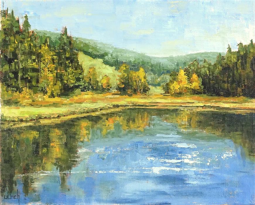 Original art for sale at UGallery.com | Gelassenheit by Ingo Ulrich | $450 | oil painting | 9.5' h x 11.8' w | ..\art\oil-painting-Gelassenheit