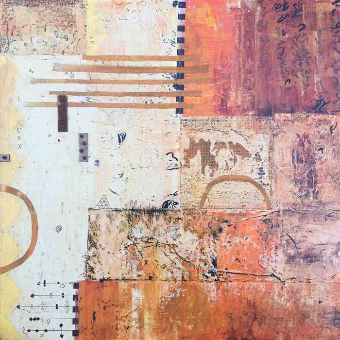 Original art for sale at UGallery.com | Out at the Edge by Margriet Hogue | $1,050 | mixed media artwork | 24' h x 24' w | ..\art\mixed-media-artwork-Out-at-the-Edge