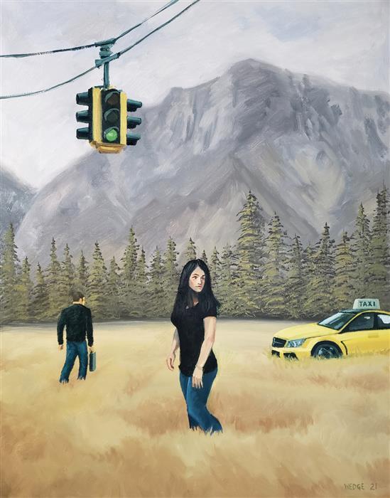 Original art for sale at UGallery.com | Getaway by Michael Wedge | $875 | oil painting | 28' h x 22' w | ..\art\oil-painting-Getaway