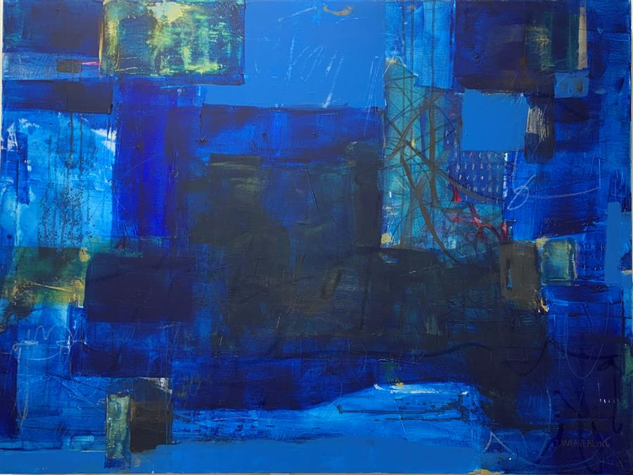 Original art for sale at UGallery.com | From Now On by Julie Weaverling | $3,400 | mixed media artwork | 36' h x 48' w | ..\art\mixed-media-artwork-From-Now-On