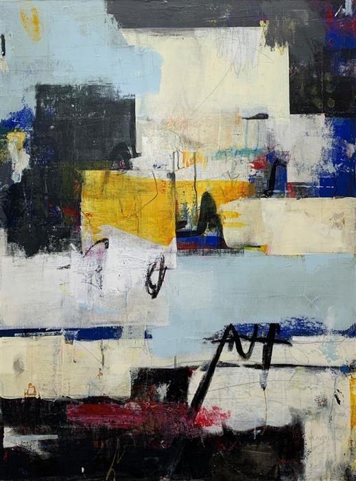 Original art for sale at UGallery.com | Change of Plans by Julie Weaverling | $2,175 | mixed media artwork | 40' h x 30' w | ..\art\mixed-media-artwork-Change-of-Plans