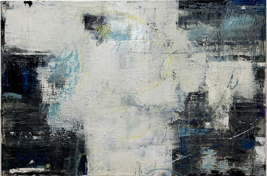 Original art for sale at UGallery.com   On Purpose by Julie Weaverling   $1,400   mixed media artwork   24' h x 36' w   ..\art\mixed-media-artwork-On-Purpose