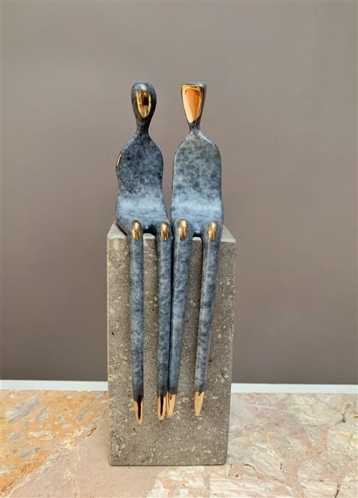 Original art for sale at UGallery.com | Soulmates by Yenny Cocq | $1,250 | sculpture | 8' h x 2.5' w | ..\art\sculpture-Soulmates