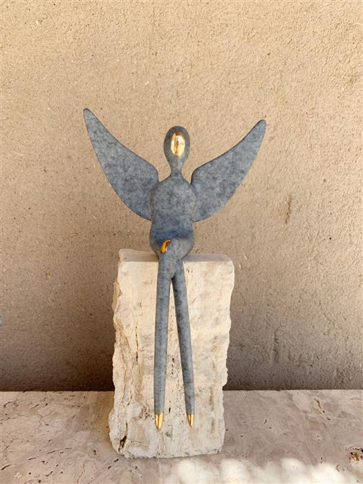 "Original art for sale at UGallery.com | 10"" Angel Bronze by Yenny Cocq | $1,275 | sculpture | 10' h x 7' w | ..\art\sculpture-10-Angel-Bronze"