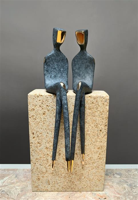 Original art for sale at UGallery.com | Two Men in Love by Yenny Cocq | $1,850 | sculpture | 10' h x 3.5' w | ..\art\sculpture-Two-Men-in-Love