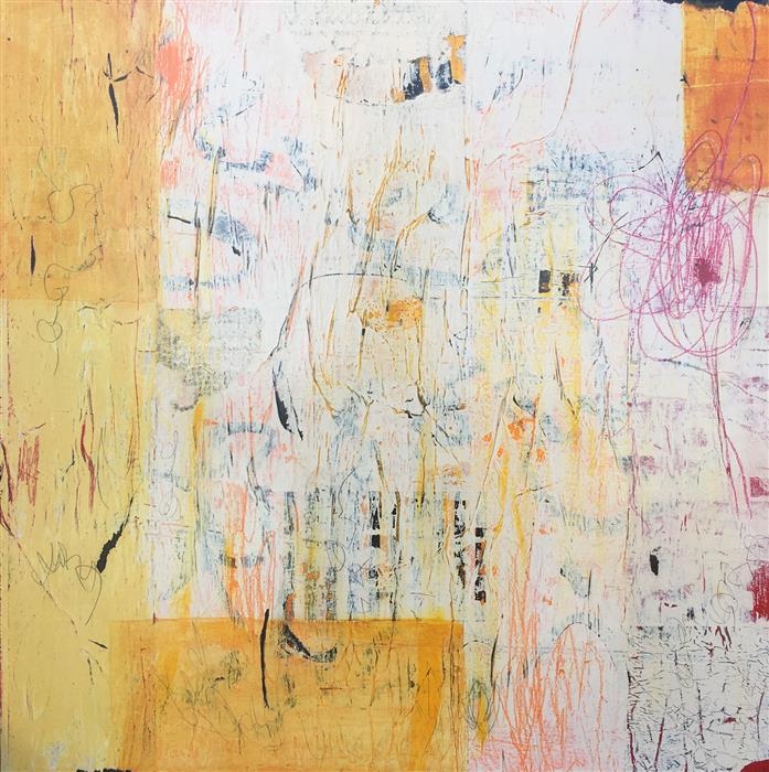 Original art for sale at UGallery.com | New Day by Margriet Hogue | $1,450 | mixed media artwork | 30' h x 30' w | ..\art\mixed-media-artwork-New-Day