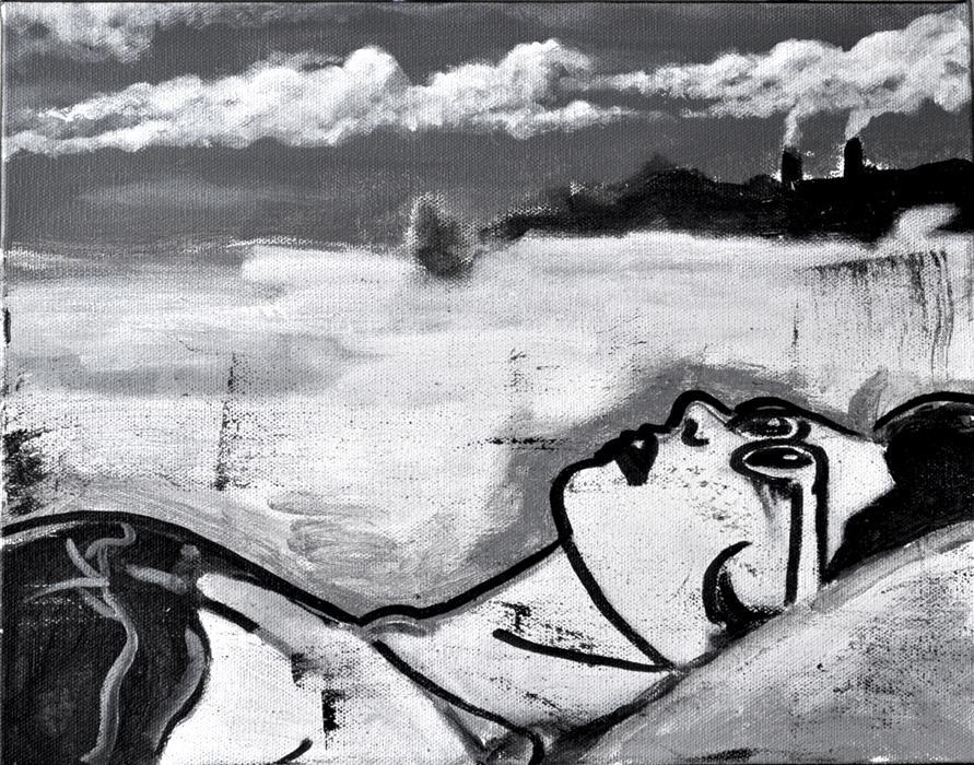 Original art for sale at UGallery.com | Random Cloud Generator by Mark Cudd | $300 | acrylic painting | 11' h x 14' w | ..\art\acrylic-painting-Random-Cloud-Generator