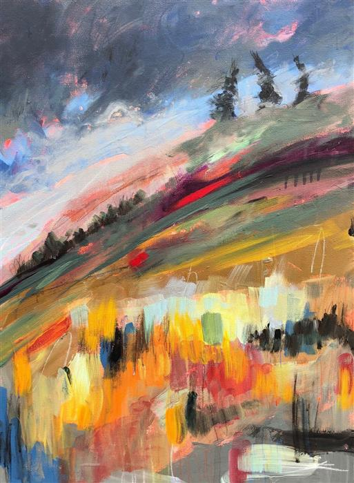 Original art for sale at UGallery.com | I Stood for a Time Looking at the Summit by Rebecca Klementovich | $1,090 | acrylic painting | 24' h x 18' w | ..\art\acrylic-painting-I-Stood-for-a-Time-Looking-at-the-Summit