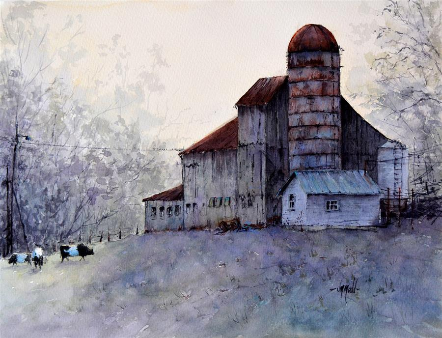Original art for sale at UGallery.com | A View from the Back by Judy Mudd | $900 | watercolor painting | 12' h x 16' w | ..\art\watercolor-painting-A-View-from-the-Back