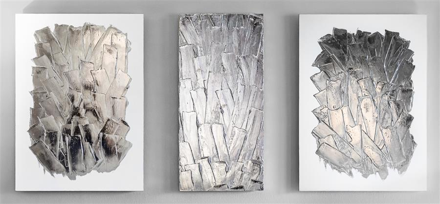 Original art for sale at UGallery.com | Glacier by M. Clark | $5,800 | mixed media artwork | 25' h x 52' w | ..\art\mixed-media-artwork-Glacier