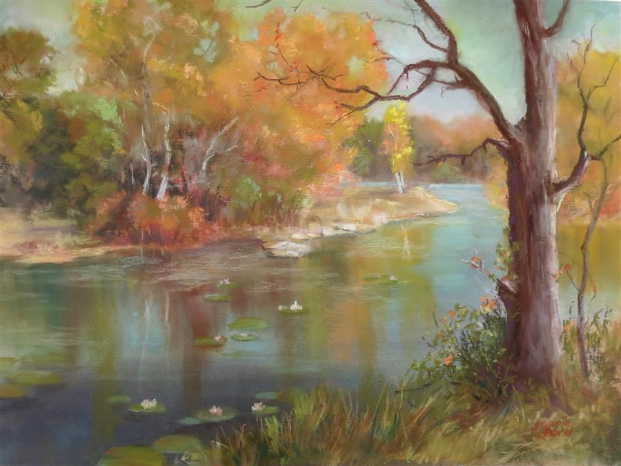 Original art for sale at UGallery.com | Autumn Escape by Joanie Ford | $275 | pastel artwork | 12' h x 16' w | ..\art\pastel-artwork-Autumn-Escape