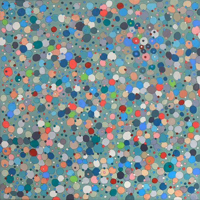 Original art for sale at UGallery.com | Effervescent by Terri Bell | $600 | mixed media artwork | 18' h x 18' w | ..\art\mixed-media-artwork-Effervescent