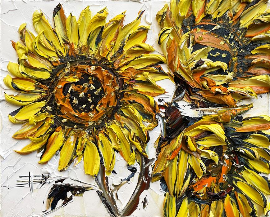 Original art for sale at UGallery.com | Van Gogh's Three by Lisa Elley | $475 | oil painting | 8' h x 10' w | ..\art\oil-painting-Van-Gogh-s-Three