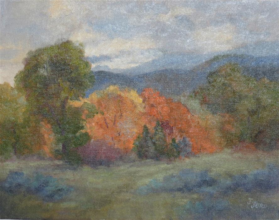Original art for sale at UGallery.com | Autumn in the Smokies by Joanie Ford | $275 | oil painting | 11' h x 14' w | ..\art\oil-painting-Autumn-in-the-Smokies