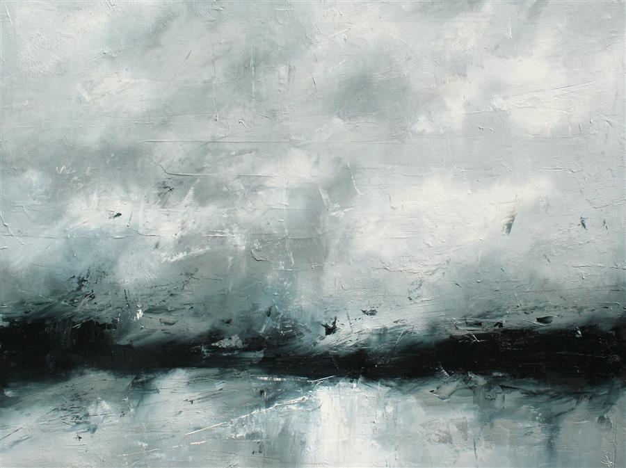 Original art for sale at UGallery.com | Beauty of a Storm by Ronda Waiksnis | $2,750 | oil painting | 36' h x 48' w | ..\art\oil-painting-Beauty-of-a-Storm