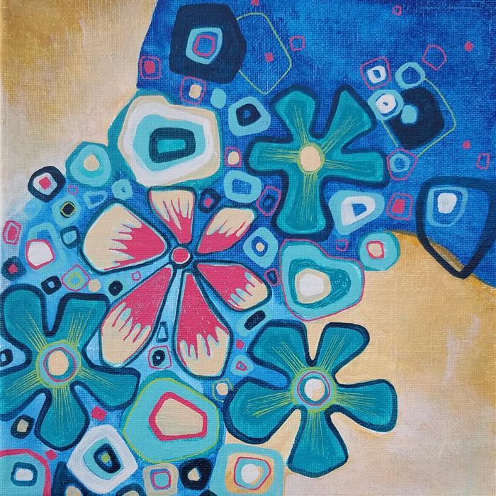 Original art for sale at UGallery.com | Bouquet by Diana Elena Chelaru | $350 | acrylic painting | 8' h x 8' w | ..\art\acrylic-painting-Bouquet-71044