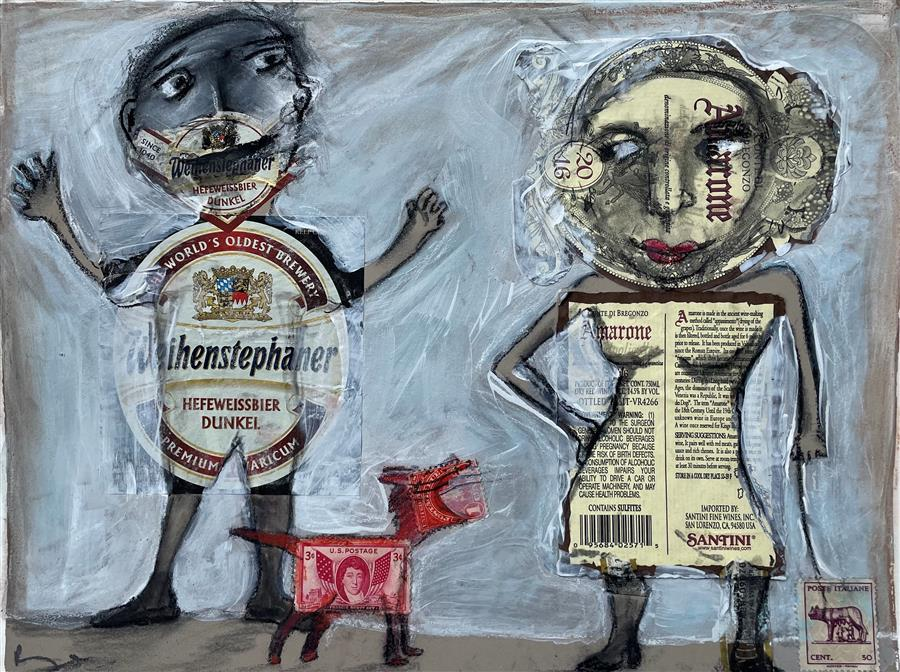 Original art for sale at UGallery.com | A Tale as Old as Time by Libby Ramage | $425 | mixed media artwork | 9' h x 12' w | ..\art\mixed-media-artwork-A-Tale-as-Old-as-Time