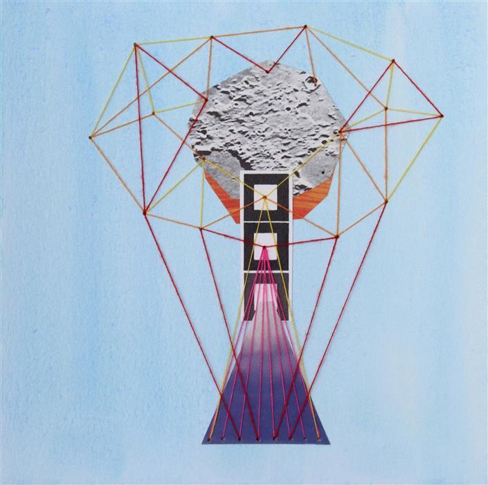 Original art for sale at UGallery.com | Binary by John Gardner | $375 | mixed media artwork | 10' h x 10' w | ..\art\mixed-media-artwork-Binary