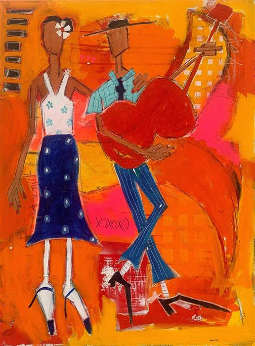 Original art for sale at UGallery.com | Please Break My Heart by Rick Hamilton | $2,275 | acrylic painting | 40' h x 30' w | ..\art\acrylic-painting-Please-Break-My-Heart