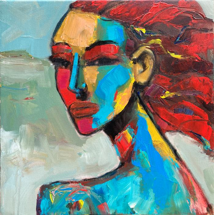 Original art for sale at UGallery.com | Redhead III by Allen Wittert | $1,050 | acrylic painting | 15.75' h x 15.75' w | ..\art\acrylic-painting-Redhead-III