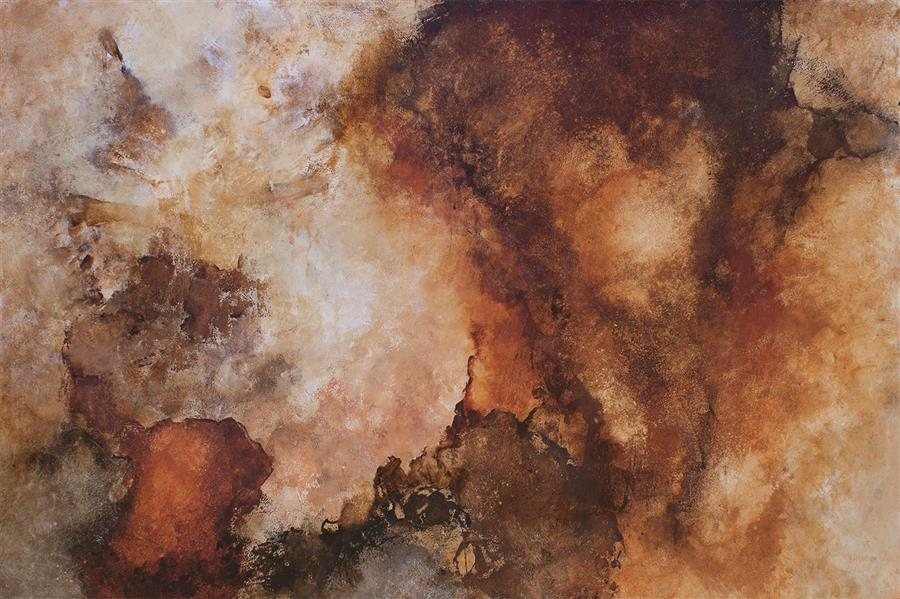Original art for sale at UGallery.com | Aftermath by Karen Hansen | $3,950 | acrylic painting | 32' h x 48' w | ..\art\acrylic-painting-Aftermath