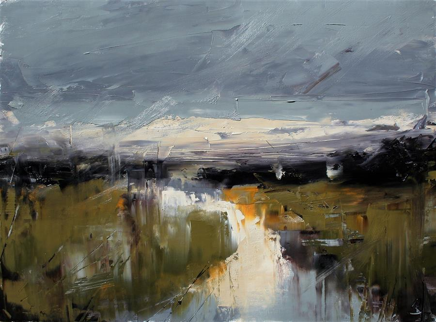Original art for sale at UGallery.com | Ebenezer Stream - After Rain by Ronda Waiksnis | $750 | oil painting | 22' h x 30' w | ..\art\oil-painting-Ebenezer-Stream-After-Rain