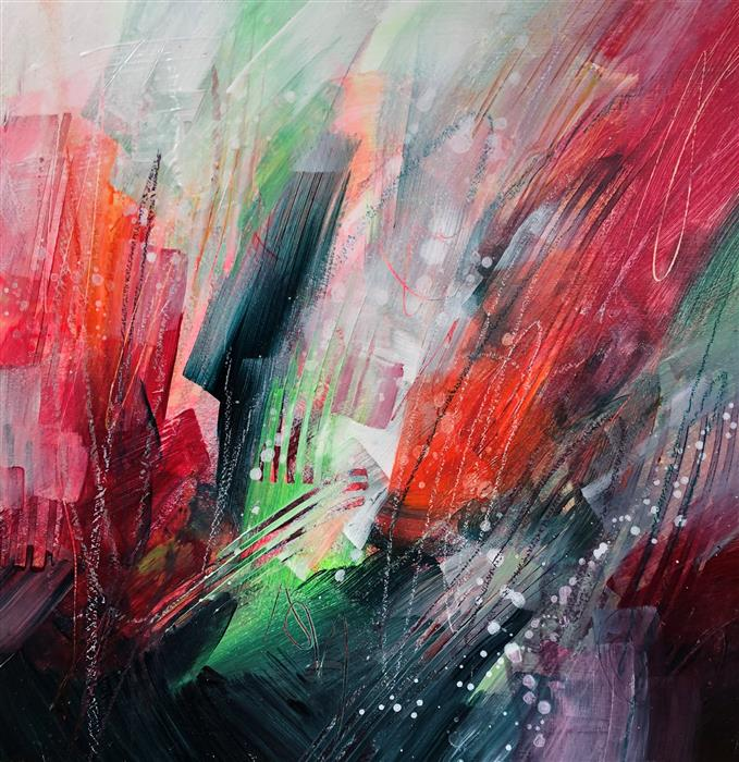 Original art for sale at UGallery.com | Flazoops1 by Courtney Jacobs | $335 | acrylic painting | 12' h x 12' w | ..\art\acrylic-painting-Flazoops1