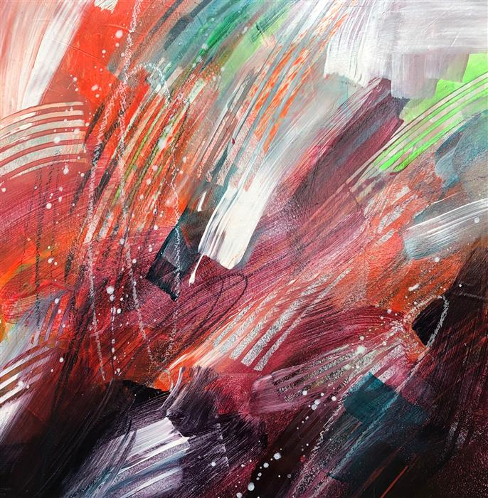 Original art for sale at UGallery.com | Flazoops4 by Courtney Jacobs | $335 | acrylic painting | 12' h x 12' w | ..\art\acrylic-painting-Flazoops4