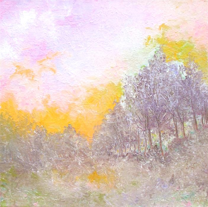 Original art for sale at UGallery.com | Candy Skies by Valerie Berkely | $325 | oil painting | 12' h x 12' w | ..\art\oil-painting-Candy-Skies