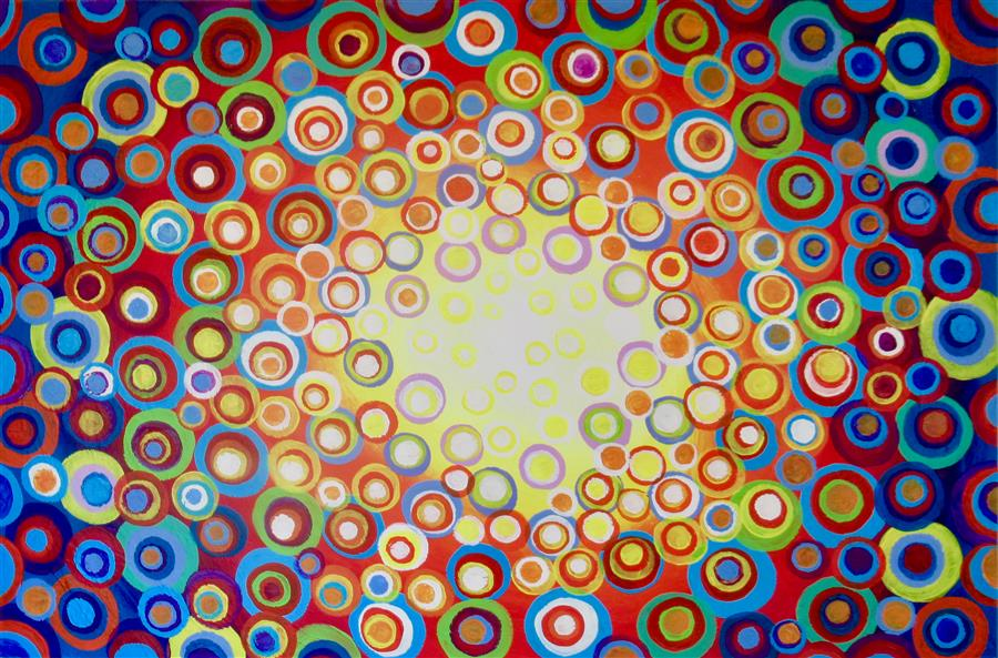 Original art for sale at UGallery.com | Kaleidoscope 2 by Natasha Tayles | $800 | acrylic painting | 24' h x 36' w | ..\art\acrylic-painting-Kaleidoscope-2