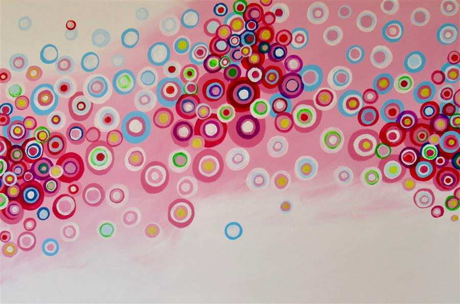 Original art for sale at UGallery.com | High Notes by Natasha Tayles | $800 | acrylic painting | 24' h x 36' w | ..\art\acrylic-painting-High-Notes