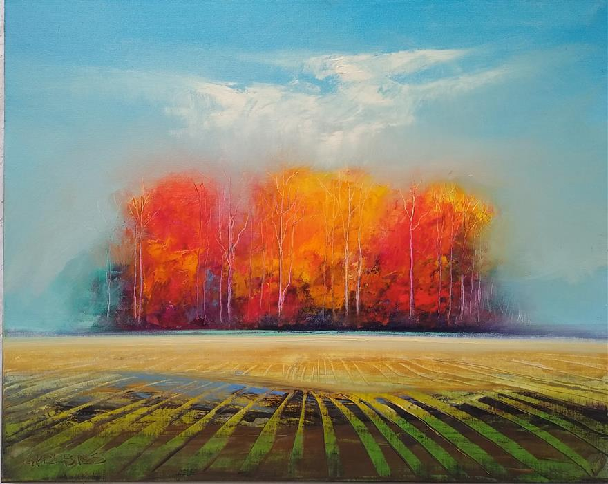 Original art for sale at UGallery.com | Glory of Autumn by George Peebles | $1,275 | oil painting | 24' h x 30' w | ..\art\oil-painting-Glory-of-Autumn