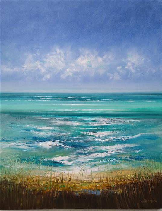Original art for sale at UGallery.com | Summers Tide by George Peebles | $8,200 | oil painting | 60' h x 48' w | ..\art\oil-painting-Summers-Tide