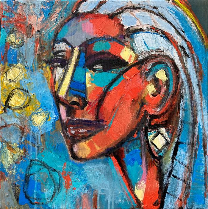 Original art for sale at UGallery.com   The Left Earring by Allen Wittert   $1,050   acrylic painting   15.65' h x 15.65' w   ..\art\acrylic-painting-The-Left-Earring