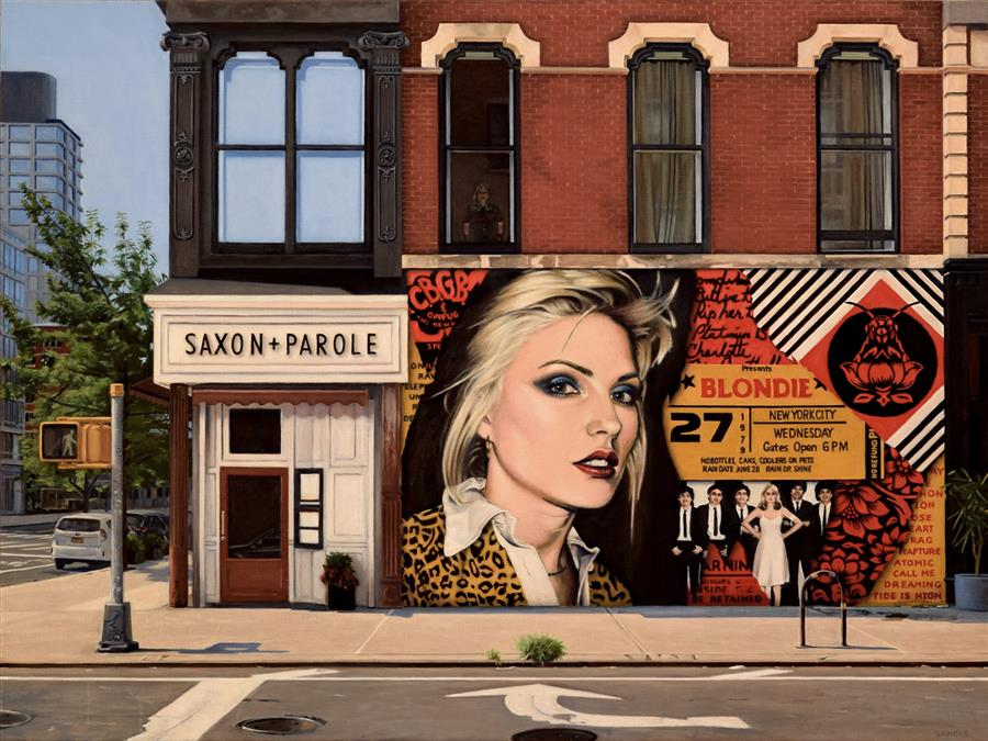 Original art for sale at UGallery.com | Blondie on Bleecker by Nick Savides | $8,100 | oil painting | 36' h x 48' w | ..\art\oil-painting-Blondie-on-Bleecker
