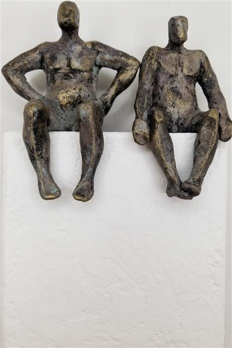 Original art for sale at UGallery.com   Couple on White by Yelitza Diaz   $300   mixed media artwork   8.5' h x 5.5' w   ..\art\mixed-media-artwork-Couple-on-White