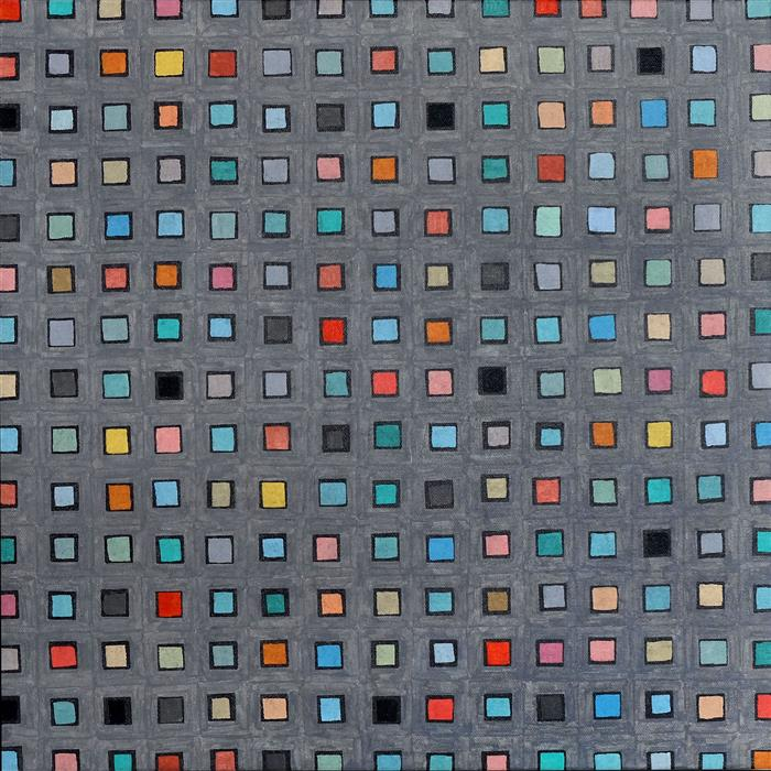 Original art for sale at UGallery.com | Modified Squares V 1.1 by Terri Bell | $650 | mixed media artwork | 18' h x 18' w | ..\art\mixed-media-artwork-Modified-Squares-V-1-1