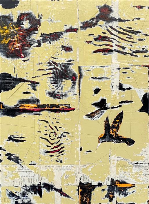 Original art for sale at UGallery.com | The Desert Found Me by Linda Shaffer | $500 | mixed media artwork | 24' h x 18' w | ..\art\mixed-media-artwork-The-Desert-Found-Me