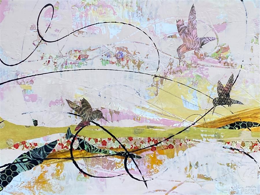 Original art for sale at UGallery.com | Ready for Spring by Linda Shaffer | $500 | mixed media artwork | 18' h x 24' w | ..\art\mixed-media-artwork-Ready-for-Spring