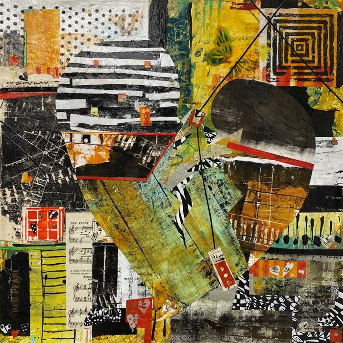 Original art for sale at UGallery.com   You Called by Linda Shaffer   $600   mixed media artwork   20' h x 20' w   ..\art\mixed-media-artwork-You-Called