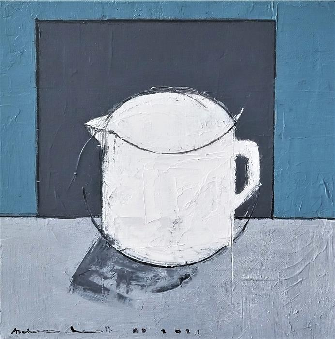 Original art for sale at UGallery.com | Jug in a Room by Paulina Archambault | $425 | acrylic painting | 12' h x 12' w | ..\art\acrylic-painting-Jug-in-a-Room