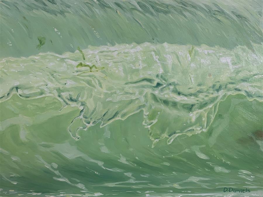Original art for sale at UGallery.com | Bay Whisper by Debbie Daniels | $825 | oil painting | 9' h x 12' w | ..\art\oil-painting-Bay-Whisper
