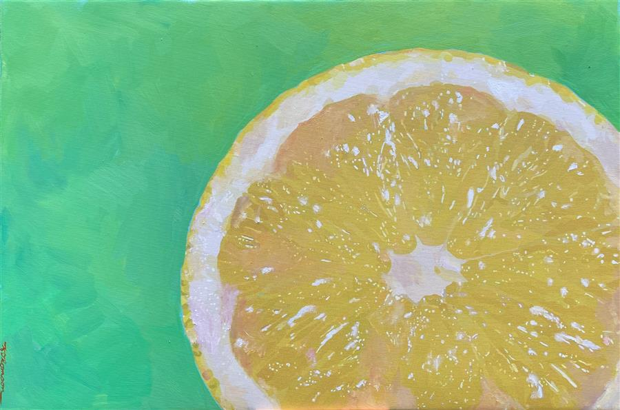 Original art for sale at UGallery.com   Lemon/Lime by Keith Thomson   $950   oil painting   16' h x 24' w   ..\art\oil-painting-Lemon-Lime-71256
