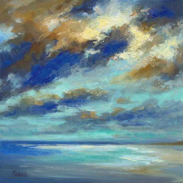 Original art for sale at UGallery.com   Breaking Light by Sheila Finch   $600   oil painting   8' h x 8' w   ..\art\oil-painting-Breaking-Light